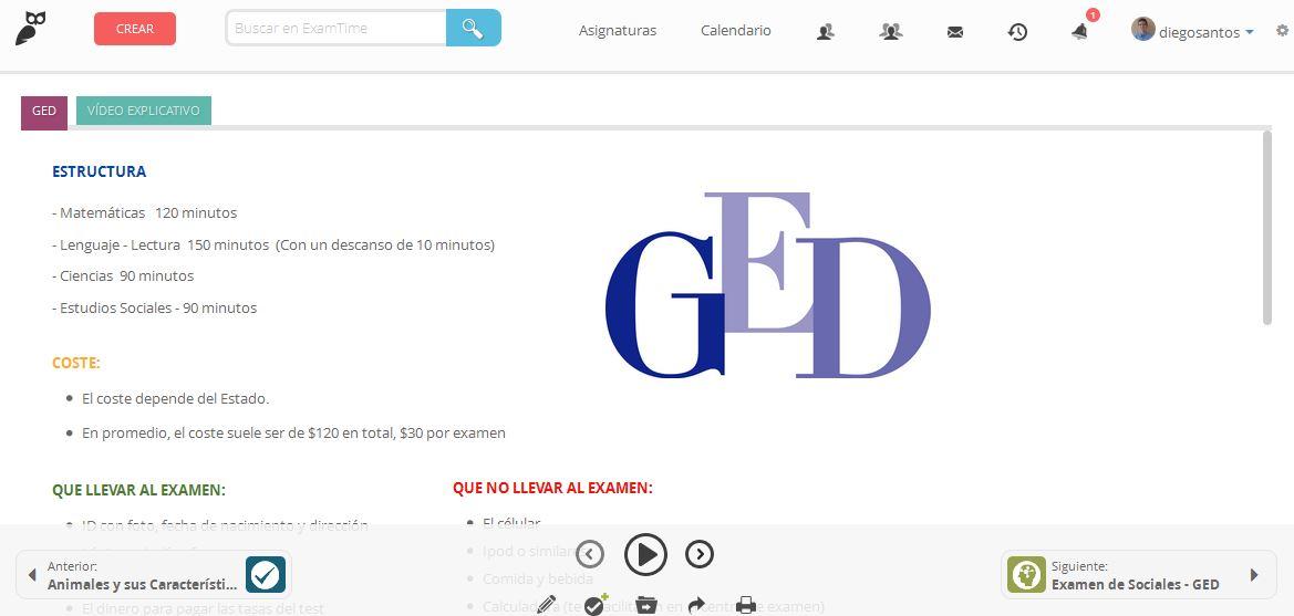Información - GED en español