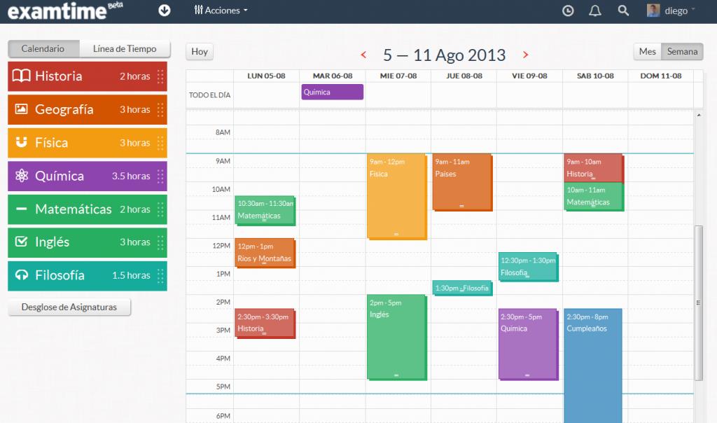 calendario de estudio mensual