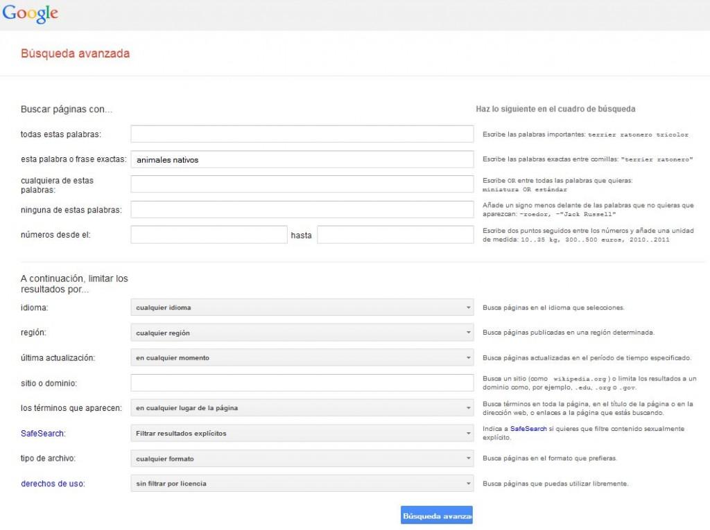 Opciones - Google Educativo