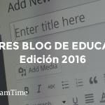 Mejores blogs de educación 2016